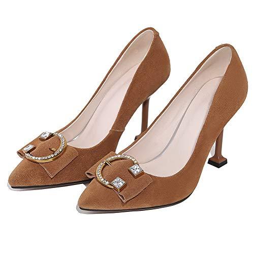 Aimint Femme ERR00102 Compensées Sandales Camel 7xrT7On