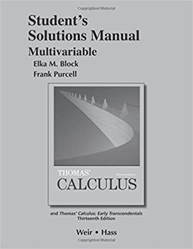 Student solutions manual multivariable for thomas calculus student solutions manual multivariable for thomas calculus 13th edition fandeluxe Gallery