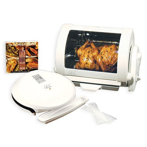 George Foreman GR36-59A Grill and Rotisserie Combo - Lean Fat