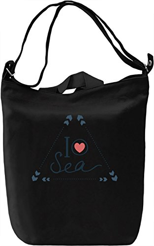 I love sea Borsa Giornaliera Canvas Canvas Day Bag  100% Premium Cotton Canvas  DTG Printing 