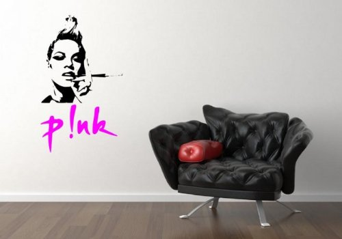 - P!NK - Pink celeb silhouette - Amazing Vinyl Wall Sticker (Large: 60cm x 100c...