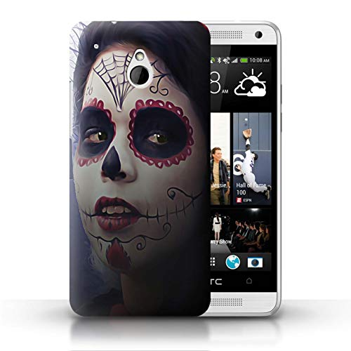 STUFF4 Phone Case/Cover for HTC One/1 Mini/Halloween Makeup Design/Day of The Dead Festival Collection (Htc One Mini Makeup Case)