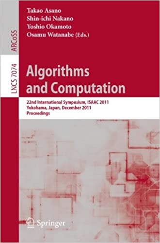 Best free book downloads Algorithms and Computation: 22nd International Symposium, ISAAC 2011, Yokohama, Japan, December 5-8, 2011. Proceedings (Lecture Notes in Computer ... Computer Science and General Issues) (Dansk litteratur) PDF RTF