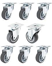 Forever Speed Transportwielen 50 mm zwenkwielen zware wielen apparaatwielen 40 kg per rol polypropyleen plaatstaal, verzinkt lichtgrijs