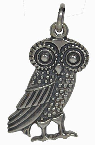 Amazon Com Owl Of Wisdom Silver Pendant High Quality
