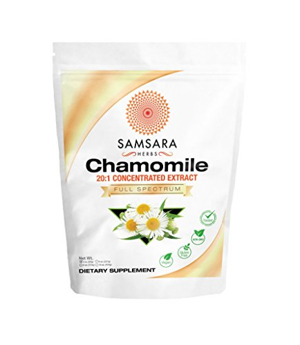 Samsara Herbs Chamomile Extract Powder - 20:1 Concentrated Extract - (2oz / 57g) Non - GMO, Potent, Highly Concentrated