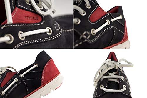 Zapato Marino de Caballeros Diseño Flexible en Suela Piel rojo Goma Interior de Forro naútico Zerimar Moda con Piel para Azul marcando Piel RnqWdwBg