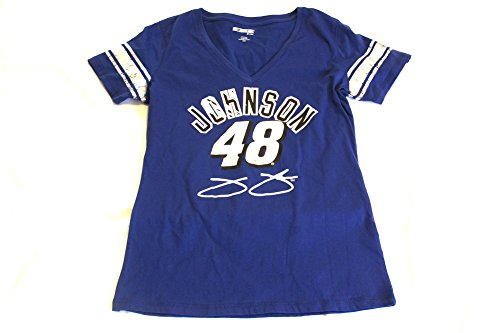 Womens Jimmie Johnson Tee Shirt (FOIL Print) Size Large