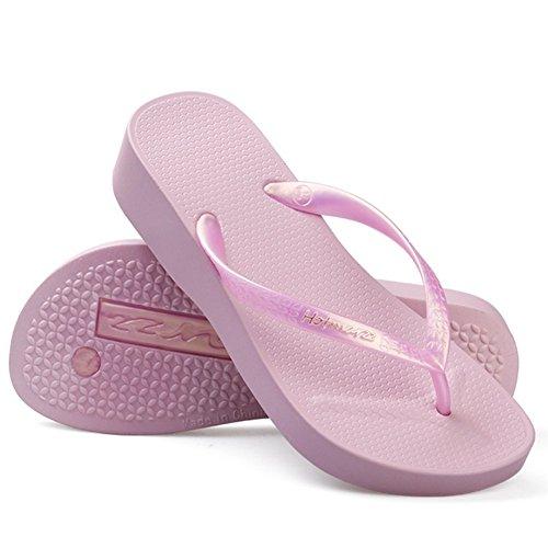 Pink 5 Centimetri Spiaggia Altezza Con 3 Havaianas Sandali Estate Infradito Donne Tacco Flops Flip YxqfOXTw