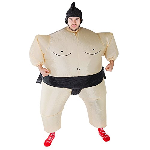Fat Air Suit Costume (THEE Sumo Inflatable Costume Halloween Party Cosplay Fat Inflatable Wrestler Suit Child)