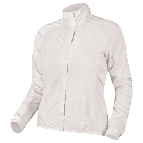 Endura Womens Pakajak Ultra Packable Showerproof Cycling Jacket White, X-Small ()