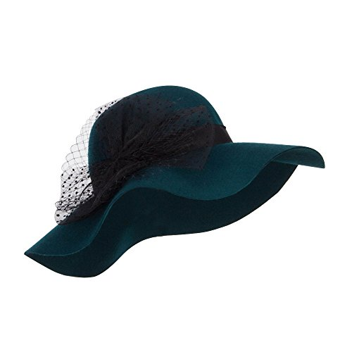 Dressy Wool Felt Hat (SS/Hat Net Wool Felt Dressy Hat - Teal OSFM)