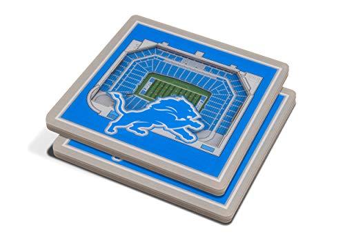 - NFL Detroit Lions 3D StadiumViews Coasters