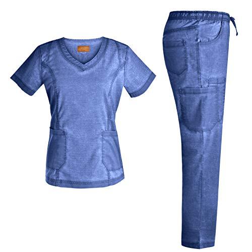 Stretch Nursing Medical Uniform Scrub Set - Nursing Women Scrubs JS1604 (Riviera, ()