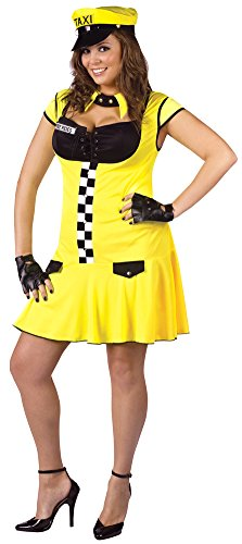 Sexy Cabbie Costumes (Adult-Costume Sexy Cabbie Sexy Plus 16-24 Halloween Costume - Adult 16-24)