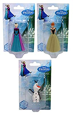 Disney Frozen Triple Pack of Figures Cake Toppers Includes Elsa, Anna and Olaf