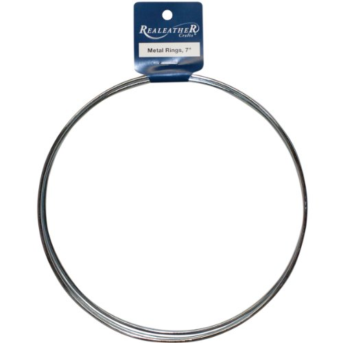 Realeather crafts zinc metal rings 7 inch 3 pkg import for 3 inch rings for crafts