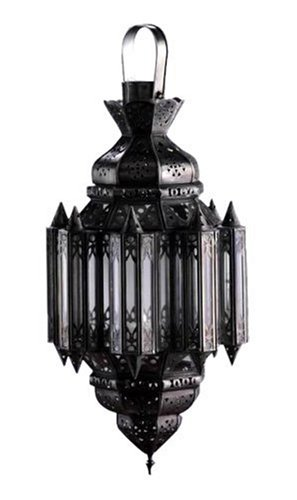 Zodax Modern Morocco Hanging Aluminum Candle Lantern