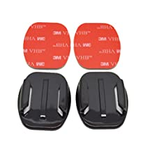 Aokland 2pcs Flat Surface mount with 3M adhesive Pads for Gopro Hero 3 2 1 Camera Sport DV
