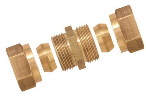 Boutt 3117007 Equal Bicone Fitting, Pipe Diameter 10, Brass
