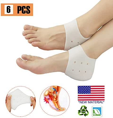 Heel Protectors, Heel Cups Sleeve, New Material,Heel Cushion, Great for Heel Pain, Heel Spur Cracked Heels, Heal Dry, Cracked Heels.