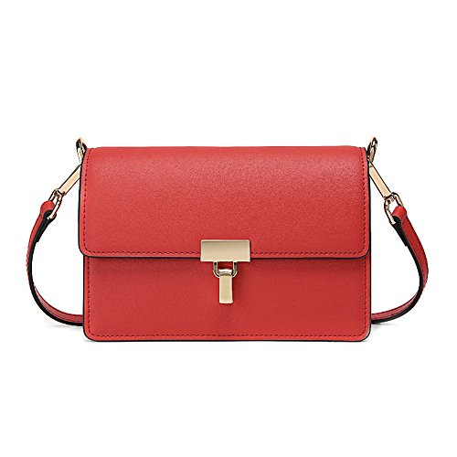 Gwqgz Small Bag Retro Shoulder Bag Pure Color Fashion Gules Gules