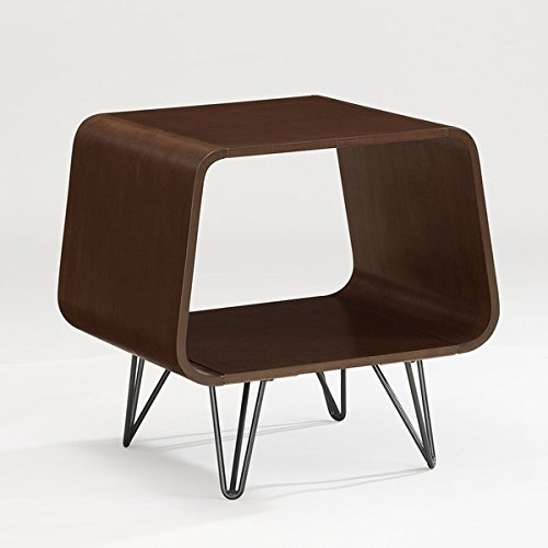 Wonderful Mid-century-style Brown Square End Table, Use an End Table As a Printer Stand in the Office, or Turn a Piece Into a Versatile Bedside Table Comes in Walnut Finish Review