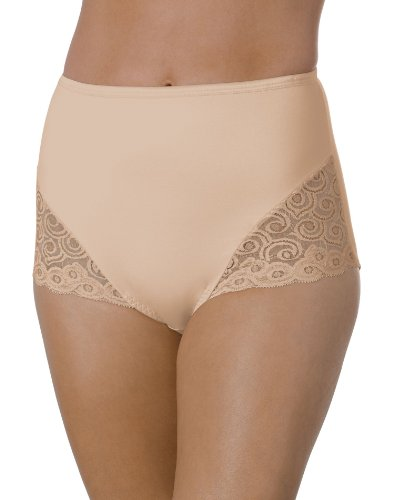 Bali Women's Brief With Lace Firm Control - Control Lace Firm Trim
