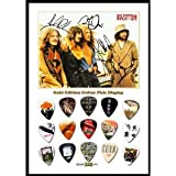 Printed Picks Company Led Zeppelin (B) New Gold Edition Guitar Pick Display with 15 Guitar Picks
