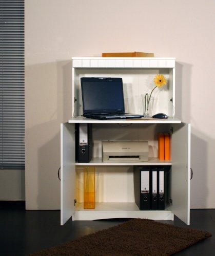 4132-1 Sekretär oder PC-Schrank im Landhaus-Stil, in weiß