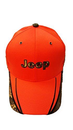 Jeep Blaze Orange Camouflage Cap (Jeep Camo Hat)