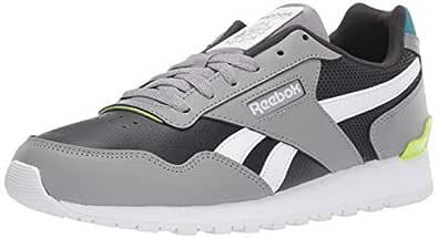 Reebok Men's Classic Harman Run Sneaker, True Grey/Mineral Mist/Lime/White, 8 M US