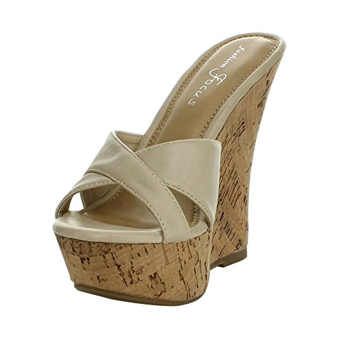 55bd3bd97 Fashion Focus Women's Ardo-39 Wedge Sandals Slides - Buy Online in ...