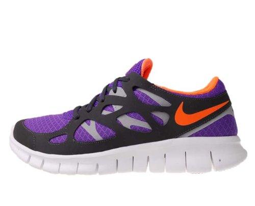 huge discount 0ceab 5de9d Nike Free Run 2 Purple Orange Wolf Grey 2012 Mens Running Shoes 443815-580