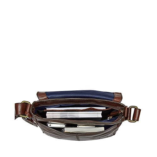 Leonhard Heyden Cambridge borsa a tracolla S pelle 23 cm brown_cognac, braun