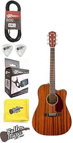 Mahogany Dreadnought (Fender CD-140SCE All Mahogany A/E Solid Top Dreadnought Guitar w/Case & More)