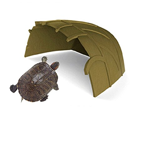 sxbest 1 Pack Reptile Hideouts, Lizard, Spider and Aquarium Fish Hide Cave, Reptile House Decoration (S, Foliage) (Cage Reptile Decorations)