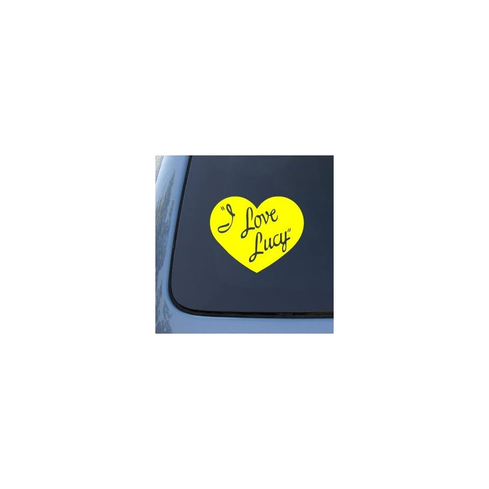 I LOVE LUCY   Lucille Ball   Vinyl Car Decal Sticker #1799  Vinyl Color Yellow