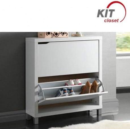 Kit Closet Zapatero kubox, Cerezo, 3 Puertas: Amazon.es: Hogar