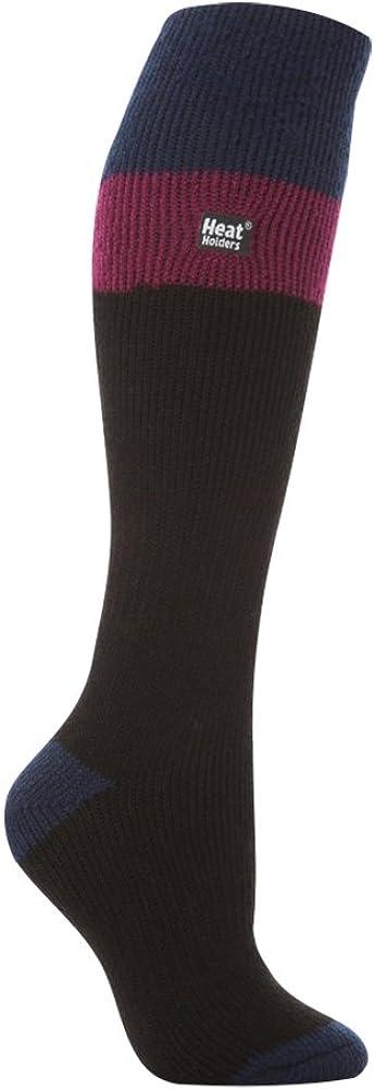 Chaussettes thermiques longues de ski pour femme Noir//fuchsia 37-42