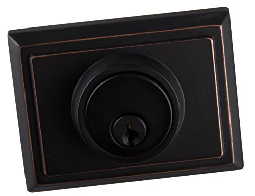 Entry Deadbolt and Handle Single Cylinder Handleset with Knob Handle for Back Entrance and Front Door Reversible for Right and Left Handed Oil Rubbed Bronze Finish, MDHST201310B-AMZ-2 by TMC (Image #4)