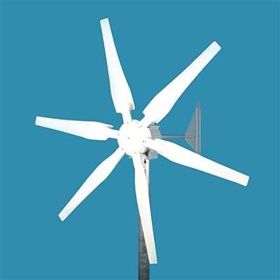 GudCraft WG400X 400 Watt 12-Volt 6-Blade Wind Generator With Charge Controller