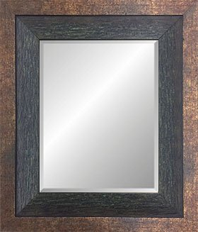 Vintage Rustic Wood Two Toned Dark Green Framed Beveled Glass Mirror (8x10 - Framed Green Mirror