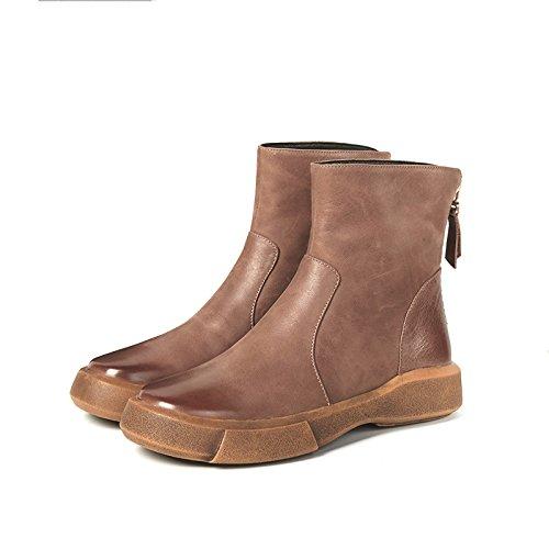 RUGAI-UE Flache Zylinderkopf Low Wax Play Weibliche Stiefel B0775NSN4D Sport- & Outdoorschuhe Die erste Reihe von umfassenden Spezifikationen für Kunden