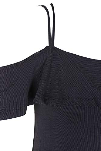 Ruffled Textured A Dress Shoulder Cold Black Juniors Line S American Rag xzw0ZZI