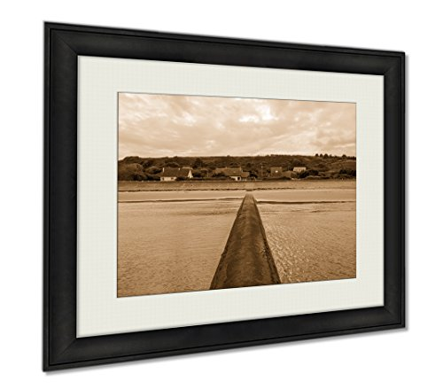 Ashley Framed Prints Omaha Beach Is One Of The Five Landing Beaches, Wall Art Home Decoration, Sepia, 34x40 (frame size), AG6479422 by Ashley Framed Prints