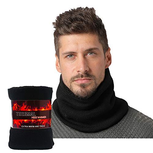 NovForth Fleece Neck Warmer Thick Heat Trapping Thermal Winter Neck Gaiters for Winter Ski Snowboard