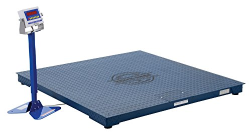 Vestil-SCALE-S-CFT-55-5K-Steel-Digital-Floor-Scale-Uniform-Capacity-5000-lb-NTEP-60-x-60-x-4-Painted-Blue