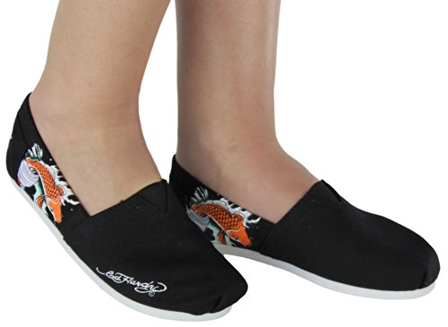 Bahamas Kvinna Lätta Slip-on Canvas Shoe Black