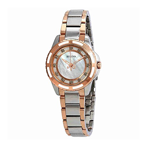 Bulova Women's 98P134 Diamond Dial (Diamond White Dial Watch)